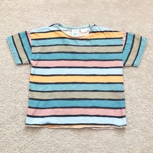 ⭐️3 FOR 20⭐️ Zara colour block loose fit tee